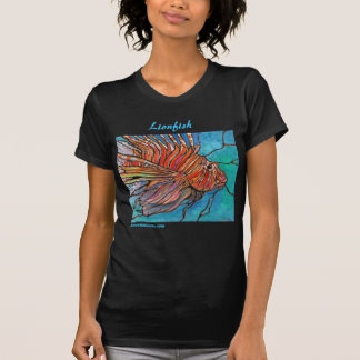 """Colorful Lionfish """"Stained Glass"""" Style Art! T Shirt"""