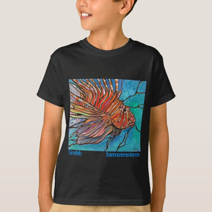 "Colorful Lionfish ""Stained Glass"" Style Art! T-Shirt"