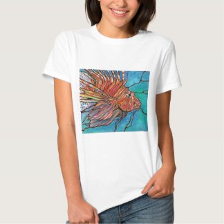 """Colorful Lionfish """"Stained Glass"""" Style Art! T-shirt"""