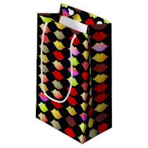 colorful lips small gift bag