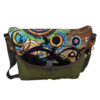 Colorful Liquid Reality Messenger Bags