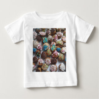 colorful little birthday cakes, food, party cake baby T-Shirt