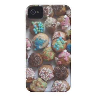 colorful little birthday cakes, food, party cake Case-Mate iPhone 4 cases