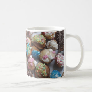 colorful little birthday cakes, food, party cake coffee mug