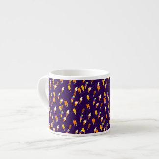 Colorful LIttle Ice Cream Pattern Dark Purple Espresso Cup
