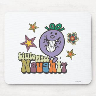 Colorful Little Miss Naughty Mouse Pad