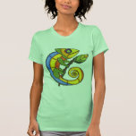 Colorful Lizard on a Branch Tees