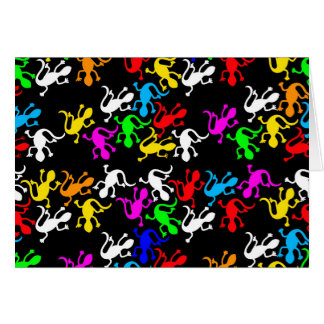 Colorful lizards pattern card