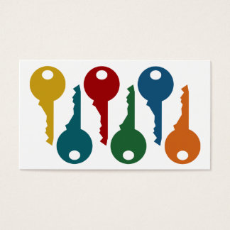 Colorful Locksmith Business Cards