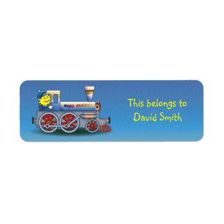 Colorful Locomotive School Labels