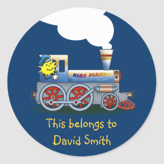 Colorful Locomotive School Sticker