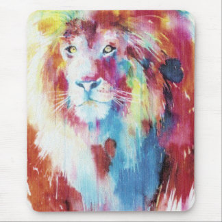 colorful loin mouse pad