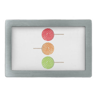 Colorful lollipop belt buckle