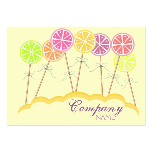 Colorful Lollipop Candy Shop Bakery Business Card