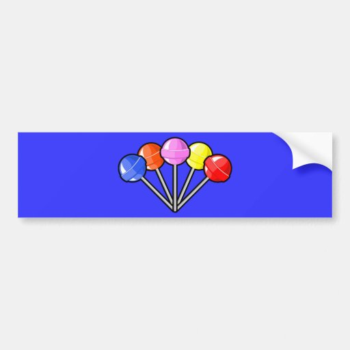 Colorful Lollipops Candy Treats Fun Yummy Graphics Bumper Stickers