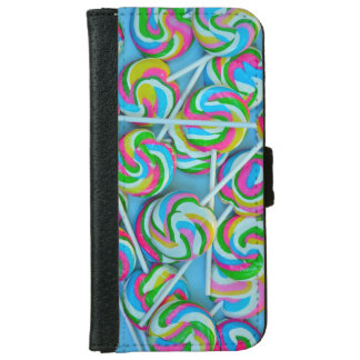Colorful lollipops pattern wallet phone case for iPhone 6/6s