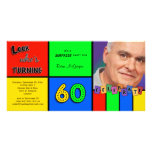 Colorful Look Whos Turning 60 Birthday Invite Photo Card