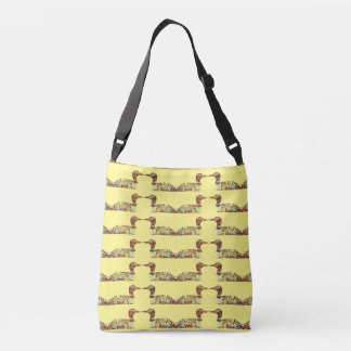 Colorful Loons Pattern Crossbody Bag