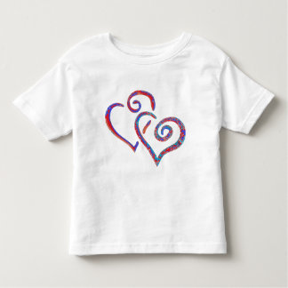 Colorful Looped Heart Kids Toddler Girl T-Shirt