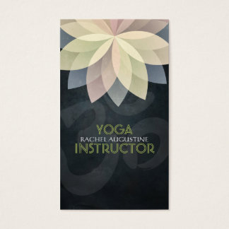 Colorful Lotus Floral Yoga Meditation Om Symbol Business Card