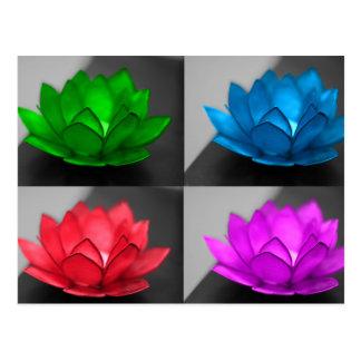 Colorful Lotus Postcard