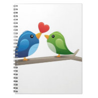 Colorful love birds notebook