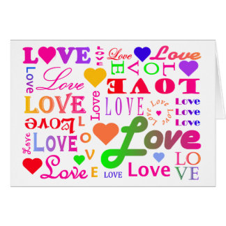 Colorful Love Card