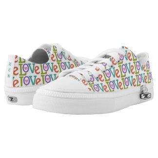 Colorful Love custom monogram low-top shoes