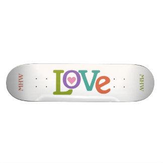 Colorful Love custom monogram skateboards