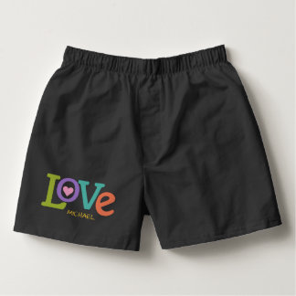 Colorful Love custom name boxers