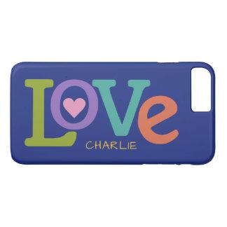 Colorful Love custom name phone cases