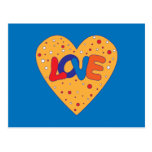 Colorful Love Design Post Cards