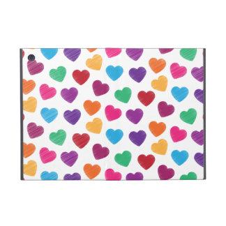 Colorful Love Heart Pattern Valentine's Day iPad Mini Case