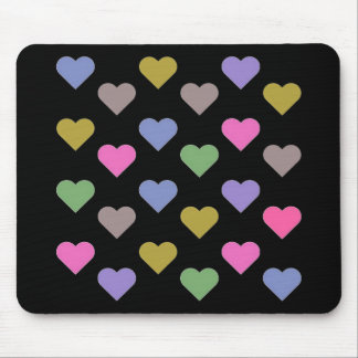 Colorful Love Hearts Mouse Pad