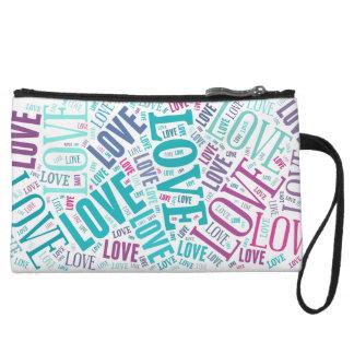 Colorful Love Inscriptions Wristlet Wallet