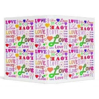Colorful Love, Love, Love, Love, Love, Love binder