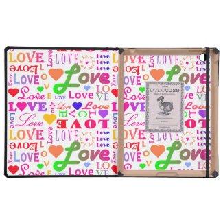 Colorful Love, Love, Love, Love, Love, Love, Love iPad Case