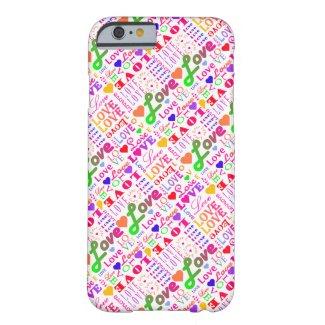 Colorful Love, Love, Love, Love, Love, Love, Love iPhone 6 Case