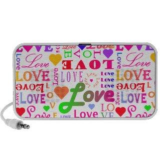 Colorful Love, Love, Love, Love, Love, Love, Love doodle