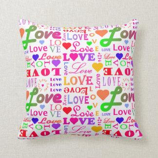 Colorful Love Love Love Love Love Love Pillows