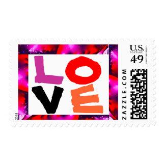 Colorful LOVE medium size Postage