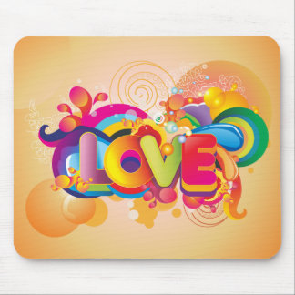 Colorful Love Mouse Pad