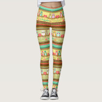 Colorful Love Owls Leggings