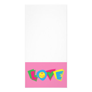 Colorful love sign card