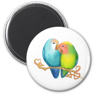 Colorful Lovebirds Magnet