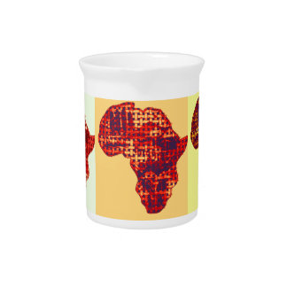Colorful Lovely Africa Colors Drink Pitcher