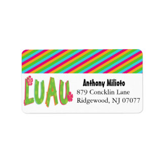 Colorful Luau Label/ Sticker