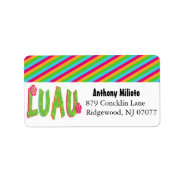 Colorful Luau Label/ Sticker Address Label at Zazzle