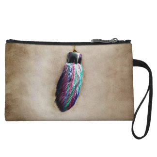 Colorful Lucky Rabbit s Foot Wristlet Purse