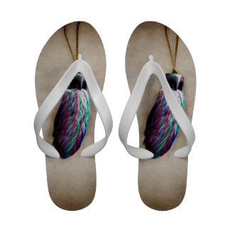 Colorful Lucky Rabbit s Foot Flip Flops